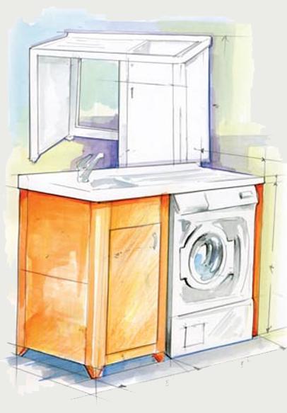 Mobili porta lavatrici tuttoarmadietti - Mobili lavatrici ...