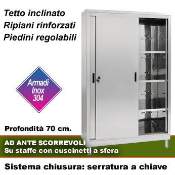 Armadio Inox Ante Scorrevoli.Armadi Inox A Ripiani Armadi Portaoggetti Ad Ante Scorrevoli P