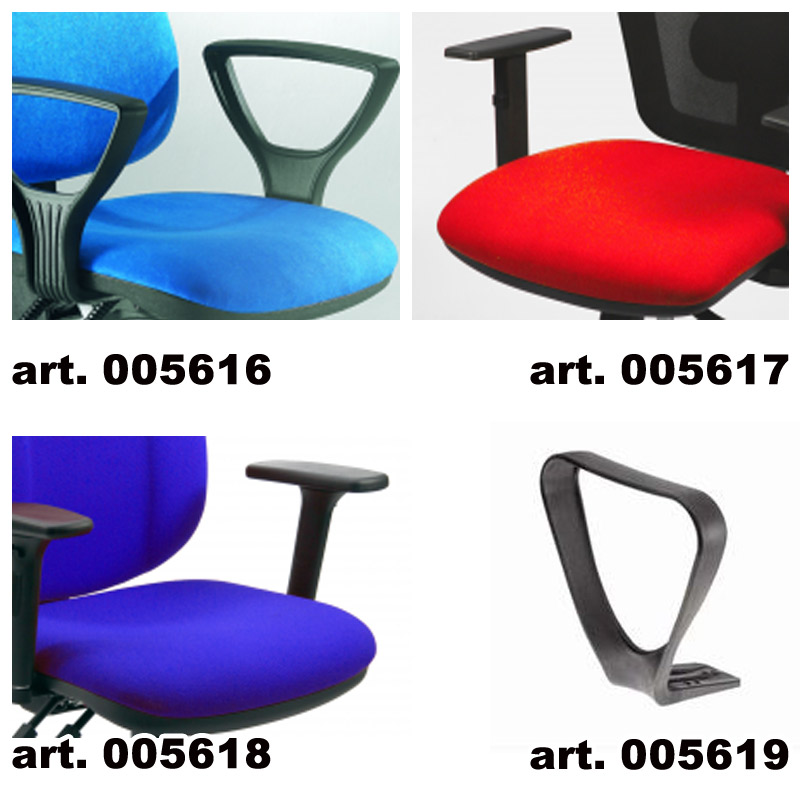 Sedie Operative Ufficio : Braccioli per sedie LEDA